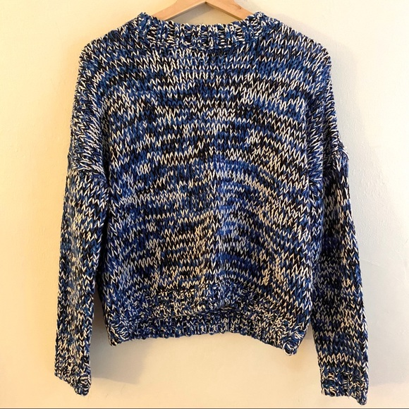 4/25 Thick H&M Black Blue / White Sweater, Size S